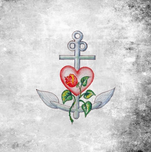 "Leinwandbild ""Anker-Herz-Rose"""