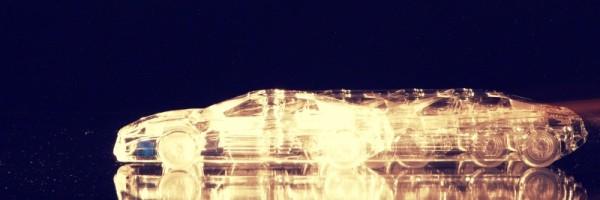 """Leinwandbild """"Glas Ferrari Gold Effect"""""""