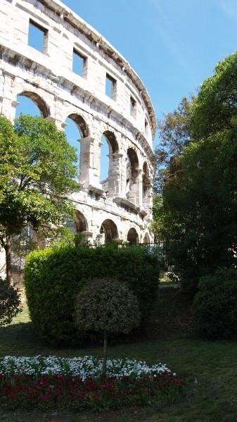 "Leinwandbild ""Coloseum Mauern"""