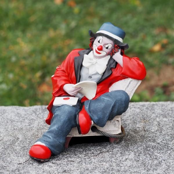 "Leinwandbild ""Clownfigur"""