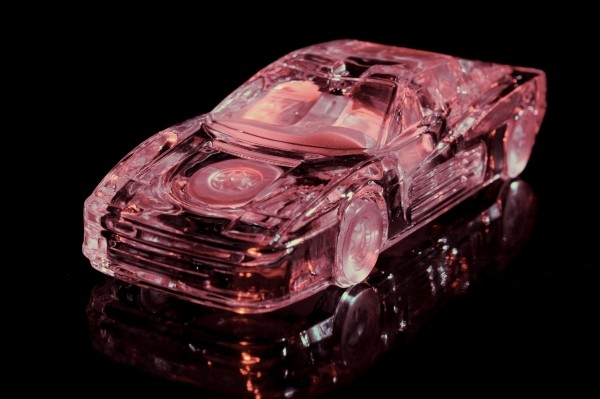 """Leinwandbild """"Glas Ferrari rose"""""""