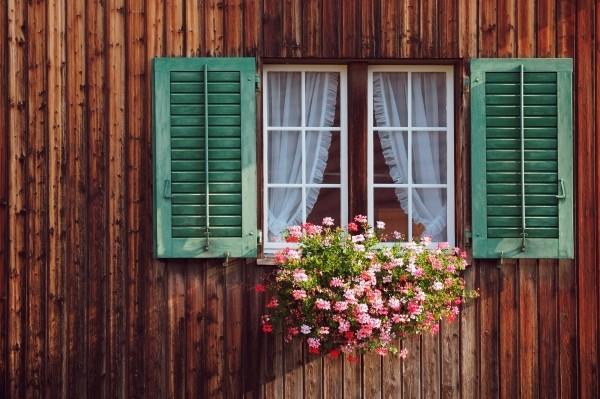 "Leinwandbild ""Fenster Rustikal"""