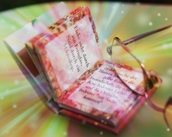 """Leinwandbild """"Liebe durch ein Fernglas"""""""